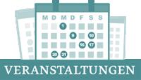 Grafik mit drei Kalenderblättern und dem Schriftzug Veranstaltungen