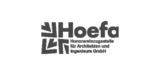 Logo der HOEFA, Honorareinzugsstelle für Architekten und Ingenieure GmbH