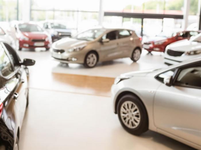 Autohaus in dem verschiedene Autos ausgestellt sind, Vertriebsrecht